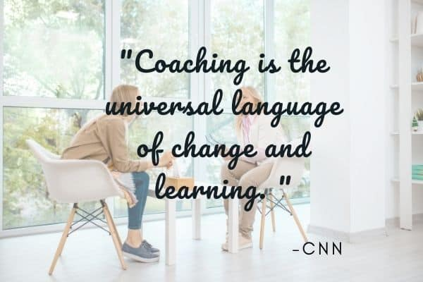 Quote explaining what is coaching