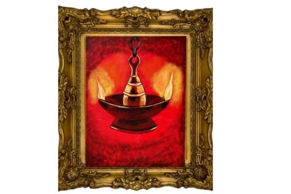 Worship Lamp on canvas
