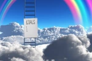 Ladder going to rainbow
