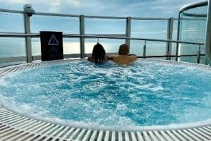 couple in a jacuzzi