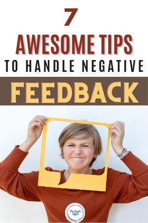 Lady making a face with feedback cutout
