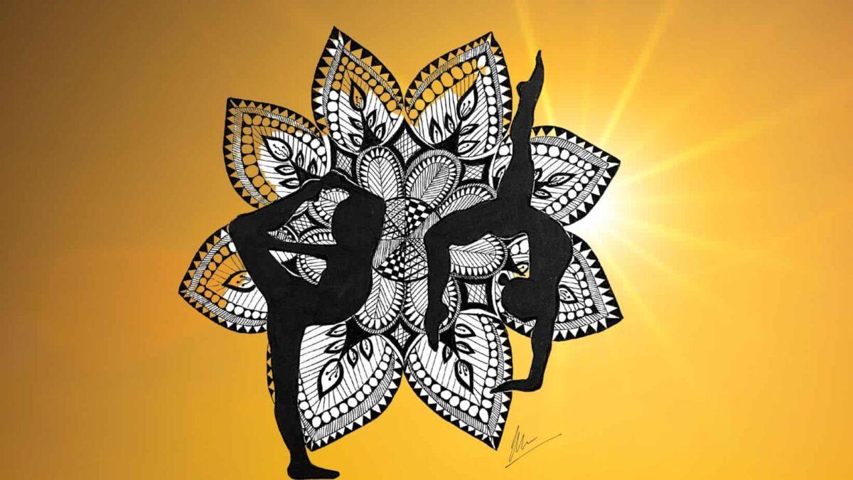 Mandala Art on Yoga