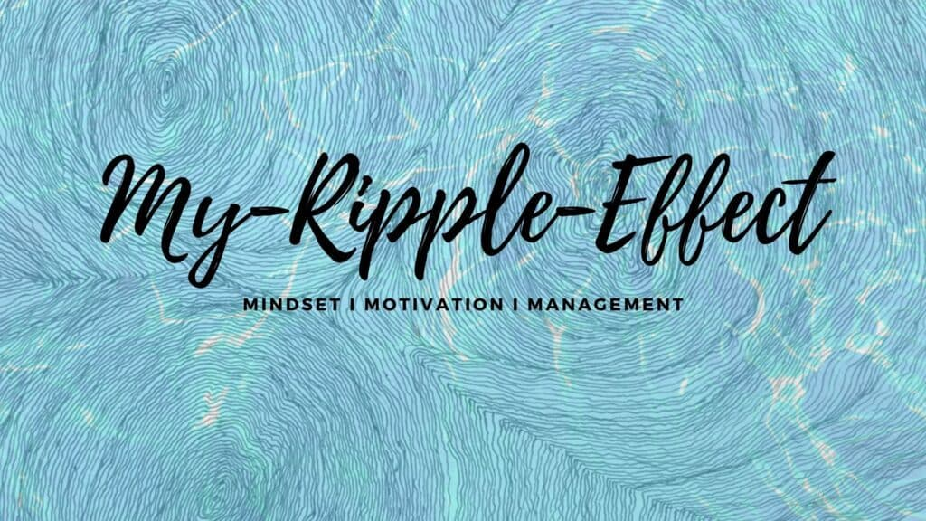 Artwork of ripples on water with My-Ripple-Effect written on it