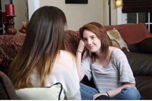 mom mentoring her teen