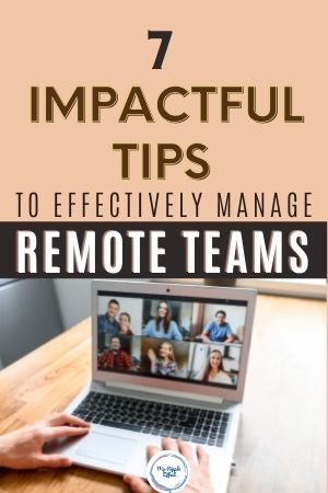 Video conference with remote team
