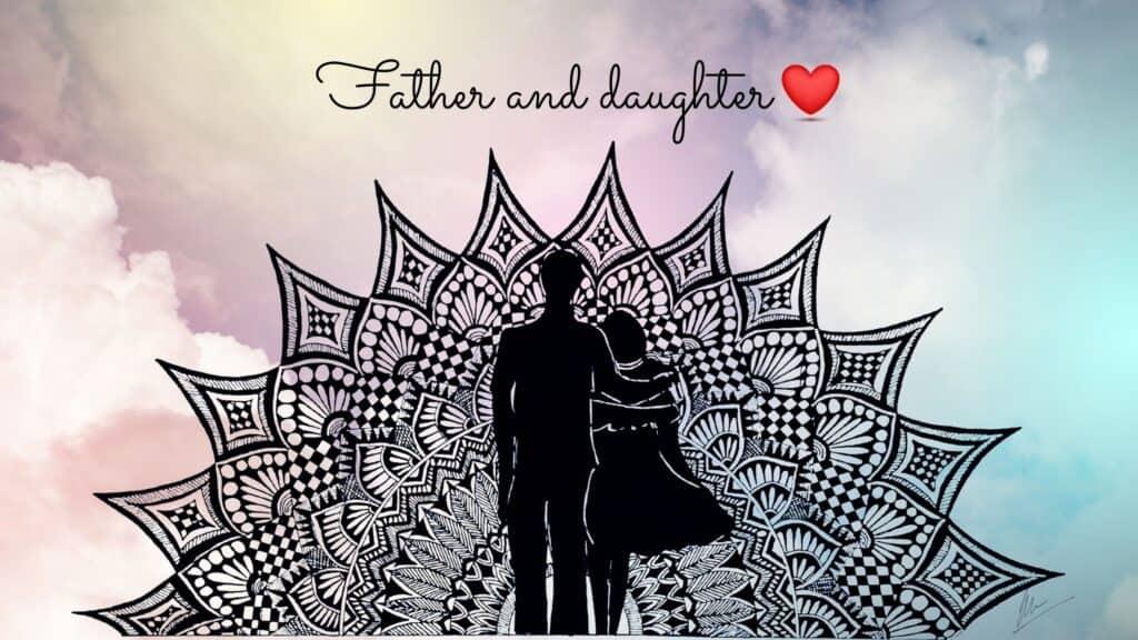 Father daughter mandala