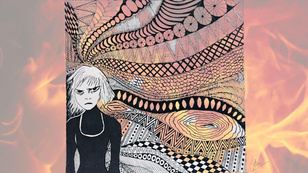 Mandala showing angry teen
