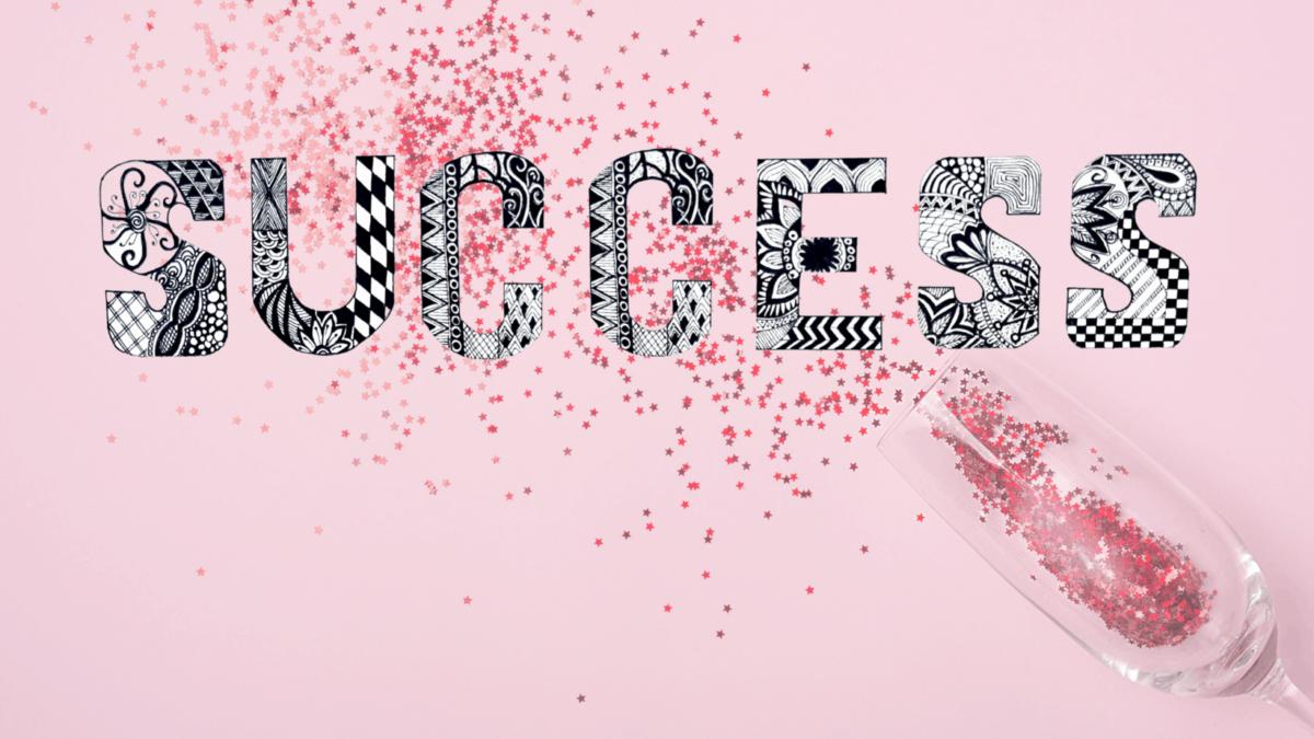 Success written in Mandala